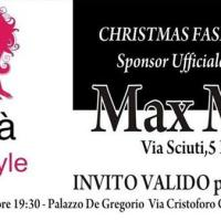 """Christmas Fashion Night"": MaxMara sponsor ufficiale del grande evento a Palazzo De Gregorio"