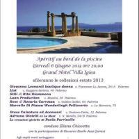 Giovedì 6 giugno Grande Evento: Moda, Arte e Cultura nella splendida cornice dell'Hotel Villa Igiea