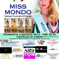 Miss Mondo Italia 2014: il 3 agosto al Castello di Carini