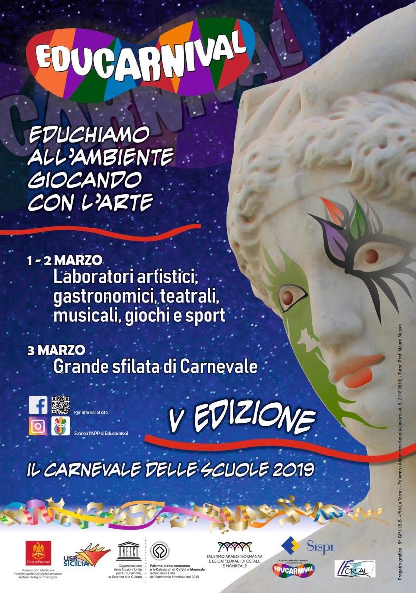 Torna a Palermo Educarnival! L'allegra manifestazione giunta alla sua V^ Edizione